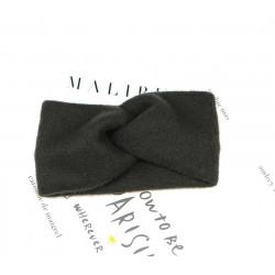 Knitted cross headband
